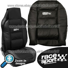 Race Sport Black Padded Luxury Lumber & Side Support Front Car Seat Cushion