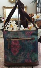 New The Sak Multicolor Brown Leather Medium Cross-body Bag Purse