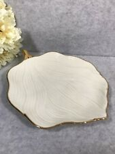 La Dolce Vita By Ja Designs Ivory Gold Leaf Shaped Collection Plate