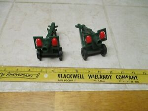 VTG Lot 2 Dulcup Italy Howitzer Firing Cannon Artillery Military Vehicle Toy