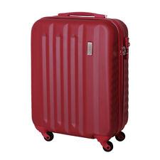 Handgepäck Hartschalen Reise Koffer Trolley Bordgepäck 30 Liter Dunkel Rot