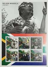 L) 2013 TUVALU, NELSON MANDELA, PRESIDENT, PEOPLE, FAMOUS, MULTIPLE STAMPS, SOUV