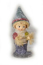 Thanksgiving Scotty Scarecrow Young Boy Figurine Margaret Haire New