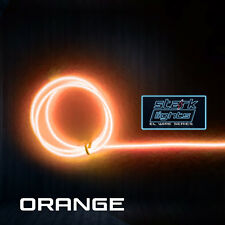 Neon LED Light Glow EL Wire + Control String Strip Rope Tube 2.3mm Thick ORANGE