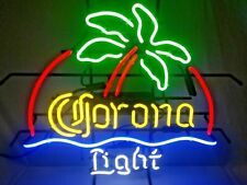 """Corona Light Palm Tree 20""""x16"""" Neon Sign Light Lamp Beer Bar With Dimmer"""