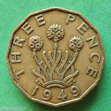 1949 George VI Threepence SNo28611