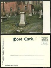 Unused Postcard-Massachusetts-Boston,Mass.-Grave of Paul Revere Pre-1908 UDB