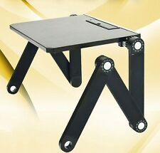 Laptop PC Notebook Adjustable Folding Desk Stand Table Tray Bed, Sofa Black S1