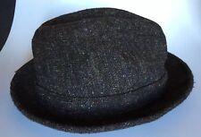 Vintage Whitehall Fedora Style Mens Hat Size Medium Dark Brownish Gray