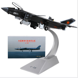 1/48 Scale Diecast J-20 Stealth Aircraft Airplane Fighter Model Toy Collectible