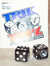 Trick Top Schrader Valve Caps / Smoke Dice NEW!