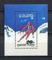32584) Hungary 1987 MNH Olympic G.Calgary S/S