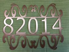 House Number Plaque, Metal Sign, Home Decor, Address Sign, Mailbox FREE SHIPPING