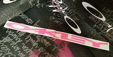 Oakley Logo Decal Sticker Hot Pink (Display X Metal Romeo 2 Juliet Medusa Radar)