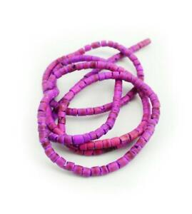 Coconut beads Purple 0 1/8-0 5/32in Heishi Xlstrang Coco Natural