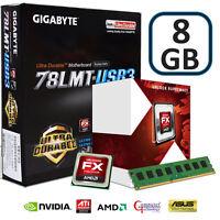 AMD FX4300 CPU 8GB DDR3 GIGABYTE 78LMT-USB3 MOTHERBOARD GAMING UPGRADE BUNDLE