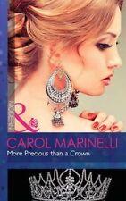 More Precious Than a Crown (Mills and Boon Modern), Marinelli, Carol   Paperback