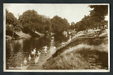 Posted 1944: View of Swans on Hythe Canal with People Sitting on the Bank