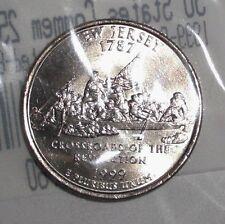 1999-P US Quarter, 25 cents, New Jersey, Washington Monroe, coin. UNC-60
