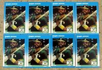 1987 - Fleer #U-49 - Reggie Jackson Oakland A's - HOF - 8ct Card Lot