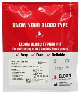 2 Blood Group Tests ABO & RhD. Same day despatch
