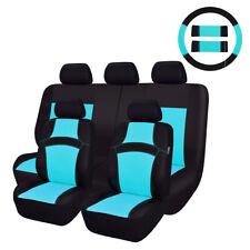 CARPASS New Arrival Universal Washable 14PCS Blue Color Sandwich Car Seat Covers