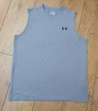 Mens Grey Heat Gear Under Armour Sport Vest Gym, Running, Basketball.  Medium