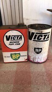 Vintage Victa BP Fuel Cans