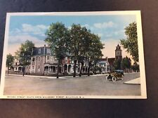 SECOND STREET SOUTH FROM MULBERRY  Millville, New Jersey Postcard  Circa 1925