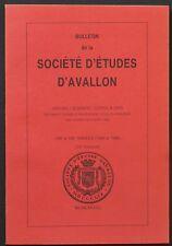 Bulletin de la Société d'Etudes d'Avallon 72è volume (1984 à 1986)