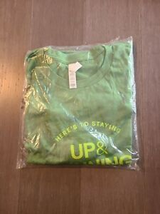 eBay Up & Running promotional t-shirt Size L green on green - New Sealed