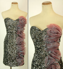 New Jovani Formal Cruise $460 Dress Size 6 Mult Short Summer Sequin Club Gown