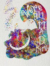 5D Full Diamond Painting Alice In Wonderland Cat Embroidery Kits DIY Decor GIFT