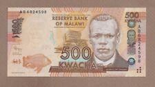 MALAWI: 500 Kwacha Banknote,(UNC),P-61a, 01.01.2012, No Reserve!