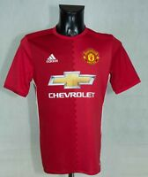 MANCHESTER UNITED 2018/2017 FOOTBALL SHIRT ADIDAS SIZE 15-16 Years or S  EXCL
