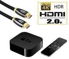 1 M ORO HDMI al cavo HDMI 2.0 A certificata per Apple TV 4 4th Gen 4K ULTRA HD