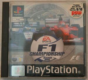 """F1 Championship Season 2000"" EA Sports Sony PlayStation 1 Video Game SLES03119"