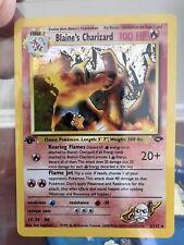 Blaine's Charizard 1st Edition  2/132 Gym Challenge   Holo 2000 Pokemon - MINT