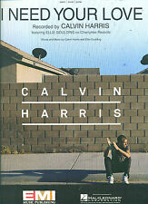 "CALVIN HARRIS ""I NEED YOUR LOVE"" PIANO/VOCAL/GUITAR SHEET MUSIC BRAND NEW SALE!"