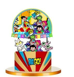 TEEN TITANS GO  Cupcake Birthday Cake Topper Party Supplies Decoration UK