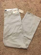 NWT DOCKERS D2 Straight Fit Easy Khaki Pants Flat Front Lt Gray 40X30 MSRP $50