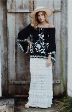 RUBY YAYA 100% COTTON *VERONA* Maxi Skirt in White, Size M BNWT RRP $159