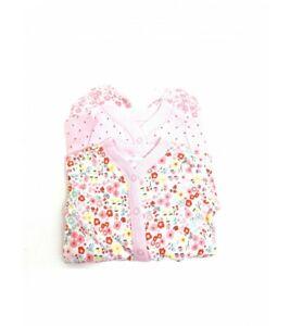 Baby girls ex nutmeg 3 pack baby grows sleepsuit NB 0-24 months