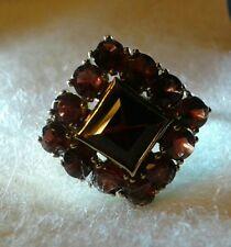 Bömische Granaten Ring - Gelbgold 333 - jahr 1956