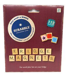 2018 Scrabble Magnetic Refrigerator tiles crossword game fridge Christmas gift
