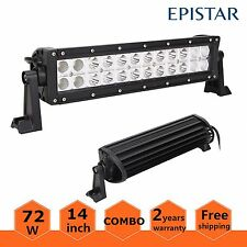 1X 72W 14inch Combo Led Light Bar ATV Jeep Off Road Lamp Jeep SUV Truck Screws