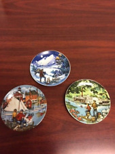 1985 Avon American Portraits Plate Collection Don W Sheffle set of 3