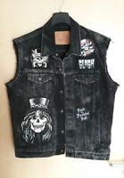 Levis LVC Jeans Weste Heavy Metal Kutte Vest Guns n Roses Tour Slash L