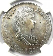 1821-D CG Mexico Durango Ferdinand VII 8 Reales Coin (8R) - NGC AU Detail