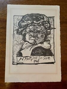 """Lithograph """"Le Marquis du Sade"""" 1966 Signed Numbered 15/20 by Jose Luis Cuevas"""